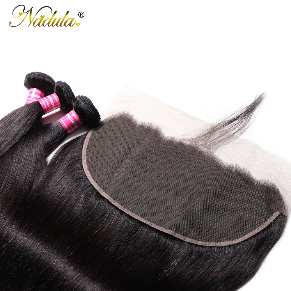 Nadula Hair 13x6 Lace Frontal Closure with Bundles Straight Hair Bundles With Frontal   Hair Bundles with Frontal 5