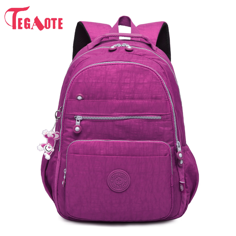 TEGAOTE School Backpack Female Mochila Women Backpacks Bag Nylon Waterproof Casual Travel Laptop Bagpack For Teenage Girl tegaote nylon waterproof school backpack for girls feminina mochila mujer backpack female casual multifunction women laptop bag