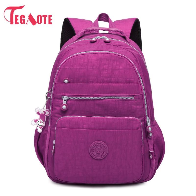 TEGAOTE School Backpack Female Mochila Women Backpacks Bag Nylon Waterproof Casual Travel Laptop Bagpack For Teenage Girl