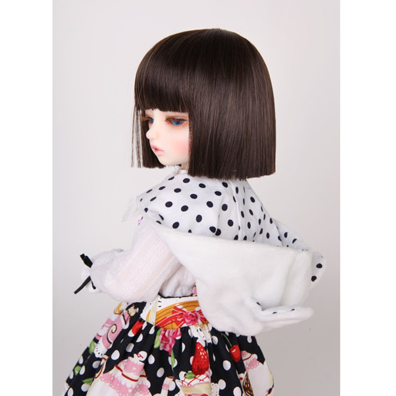1/3 1/4 BJD Wig Short Straight Hair for Dolls Accessories,New Style Synthetic Doll Wigs for Dolls Fashion Doll Accessories harajuku anime nicole cosplay wigs young short straight synthetic hair braid wigsbob style sexy wigs double ponytail hairpiece