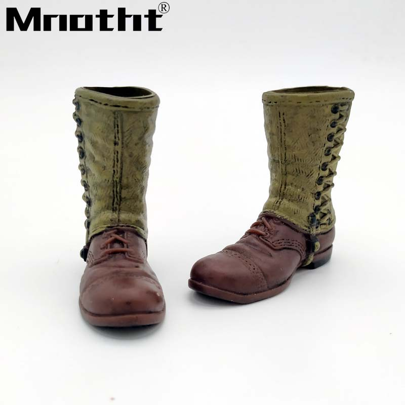 1/6 Scale WWII US Army Leggings Boots Model Ranger Soldier Shoes for 12inch Male Soldier action figures toys bicycle pedal