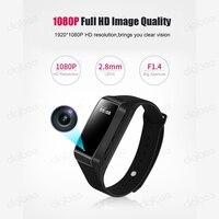 New Bluetooth Smart Bracelet Sleep Monitor HD 1080P Mini Camera Wristband Secret Sports Kamera Micro Camera Pedometer Smartband