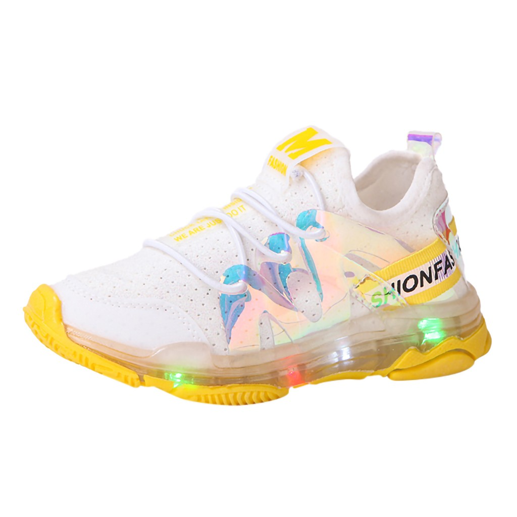 Shoes Baby-Girls Sneakers Boys Fashion Casual Sport Run Led Laser Childrenkid Mesh-Letter
