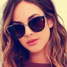 LONSY Retro Sexy Cat Eye Sunglasses Women Luxury Brand Designer Vintage Gradient Sun Glasses Female Oculos de sol UV400