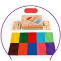 127 unids Matemáticas Matemáticas Juego Stick + Cubos De Madera de Juguete Para Niños Niños Aritmética Montessori Juguetes Educativos
