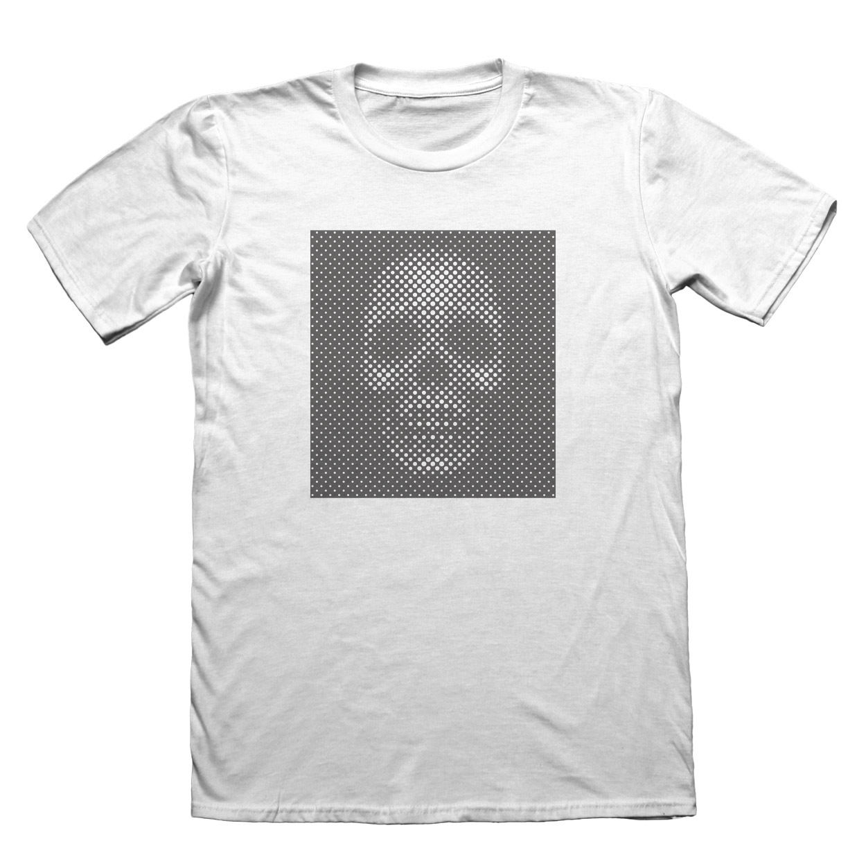 Dot-matrix Skull T-Shirt - Mens Fathers Day Christmas #7684