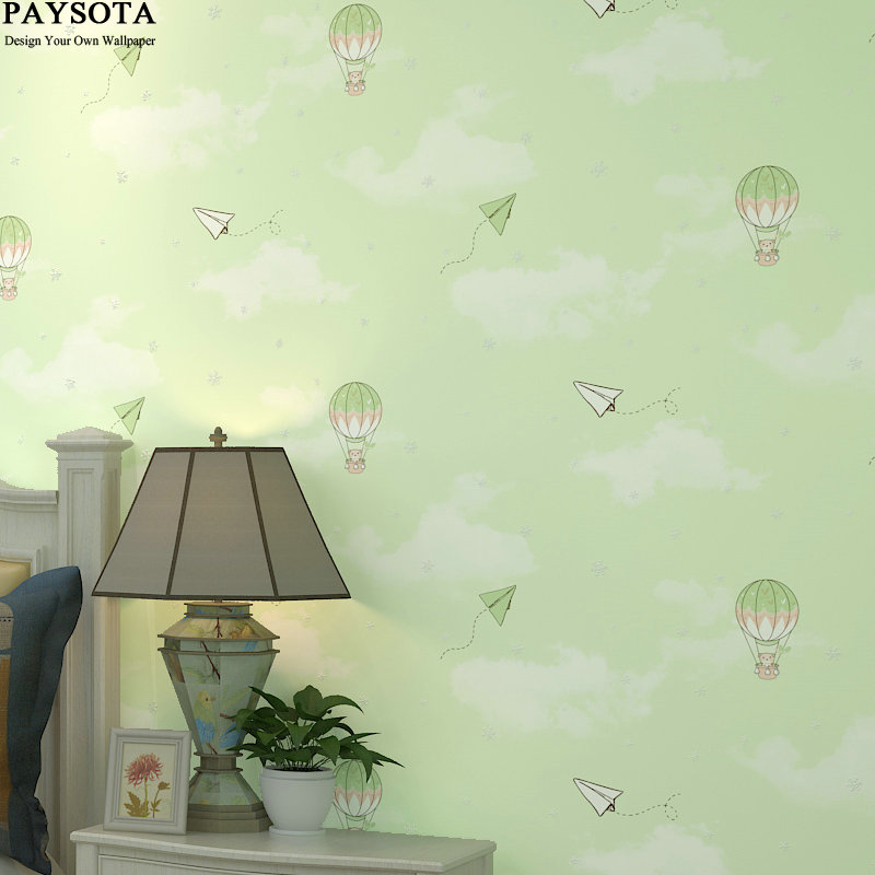 2017 Real Photo Wallpaper Papel Pintado Paysota Children Room Non-woven Wall Paper Cartoon Balloon Girl Boy Bedroom Background paysota cartoon castle children room wallpaper princess girl bedroom lovely pink household wall paper roll