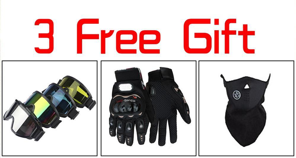 1set Motorcycle motocross Off Road Helmet with Goggle Mask Gloves ATV Dirt Bike Racing Helmet Men/Women Racing Casque Moto Casco