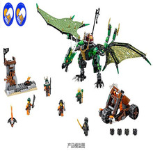 A Toy A Dream Bela 10526 Ninja The Green NRG Dragon Blocks Brick Toys Set Boy Game Team Castle Compatible with Lepin  70593