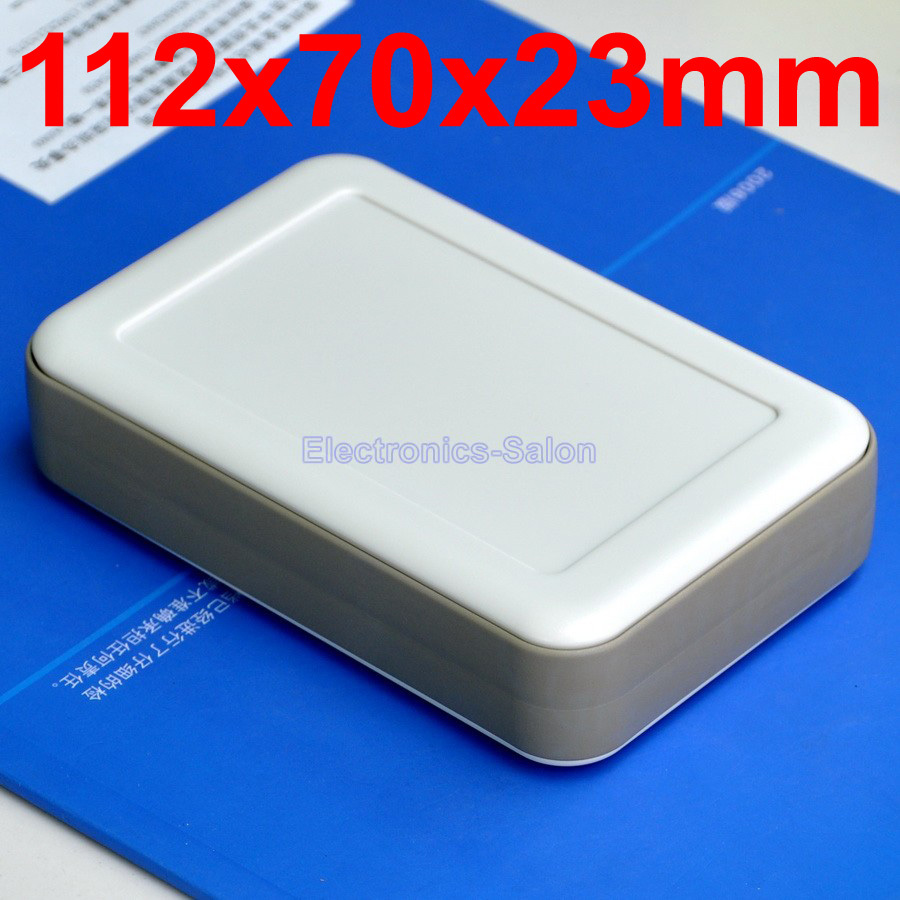 HQ Hand-Held Project Enclosure Box Case,White-Gray, 112 X 70 X 23mm.