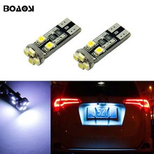 BOAOSI 2x T10 LED W5W Samsung 1210SMD Car License plate Light Bulbs For Opel Adam Corsa C Corsa C Combo Corsa D Astra H