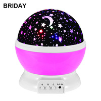 LED Rotating Night Light Projector Spin Starry Sky Star Master Children Kids Baby Sleep Romantic USB