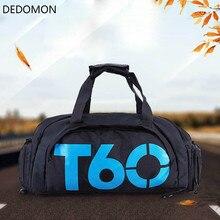 Фирменная новинка, мужская спортивная сумка для спортзала, Женская водонепроницаемая сумка для фитнеса, для улицы, раздельное пространство для обуви, сумка, рюкзак, скрытый рюкзак, sac de T60