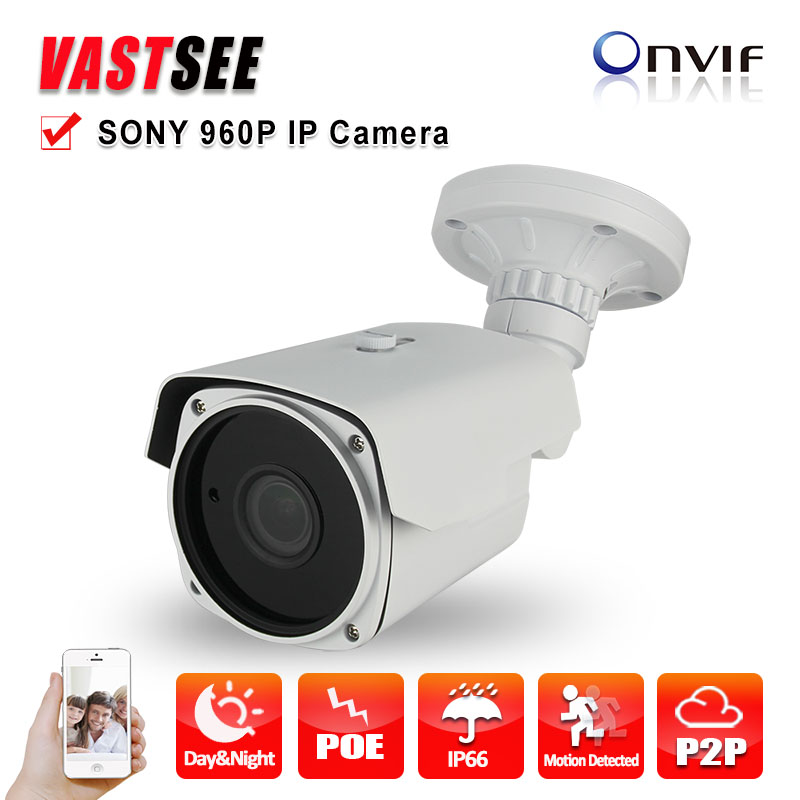 ФОТО security camera IP Onvif poe Sony imx225 1.3MP 960P 2.8-12mm Zoom Outdoor Waterproof ip66 P2P Night Vision surveillance cameras