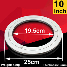 10 Inch Aluminum Lazy Susan Swivel Plate Round Turntable Bearings Hardware  Accessories