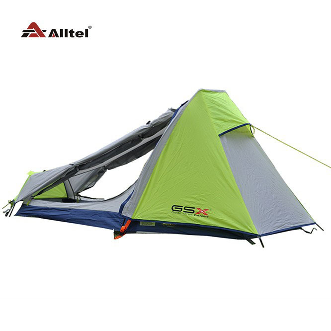 lightweight outdoor camping tent Single Aluminum Pole Double layer professional field through the hiking equipment high quality outdoor 2 person camping tent double layer aluminum rod ultralight tent with snow skirt oneroad windsnow 2 plus