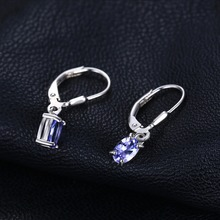 JewelryPalace Fashion 1.0ct Natural Tanzanite LeverBack Earrings Genuine 925 Sterling Silver New Fine Jewelry For Women