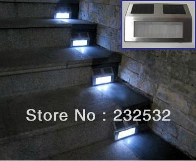 Genuine Stainless Steel LED Stair Lights Solar Lights Outdoor Lights Garden Lights  Solar Fence Footlights