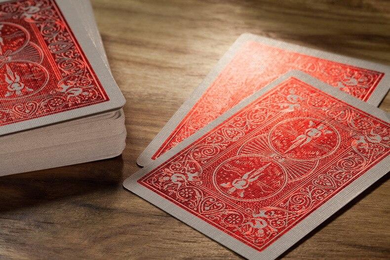1 Peças De Plástico Da Primavera tamanho pôquer Cartas De Baralho Flor Corte Cartões De Pôquer Mágica