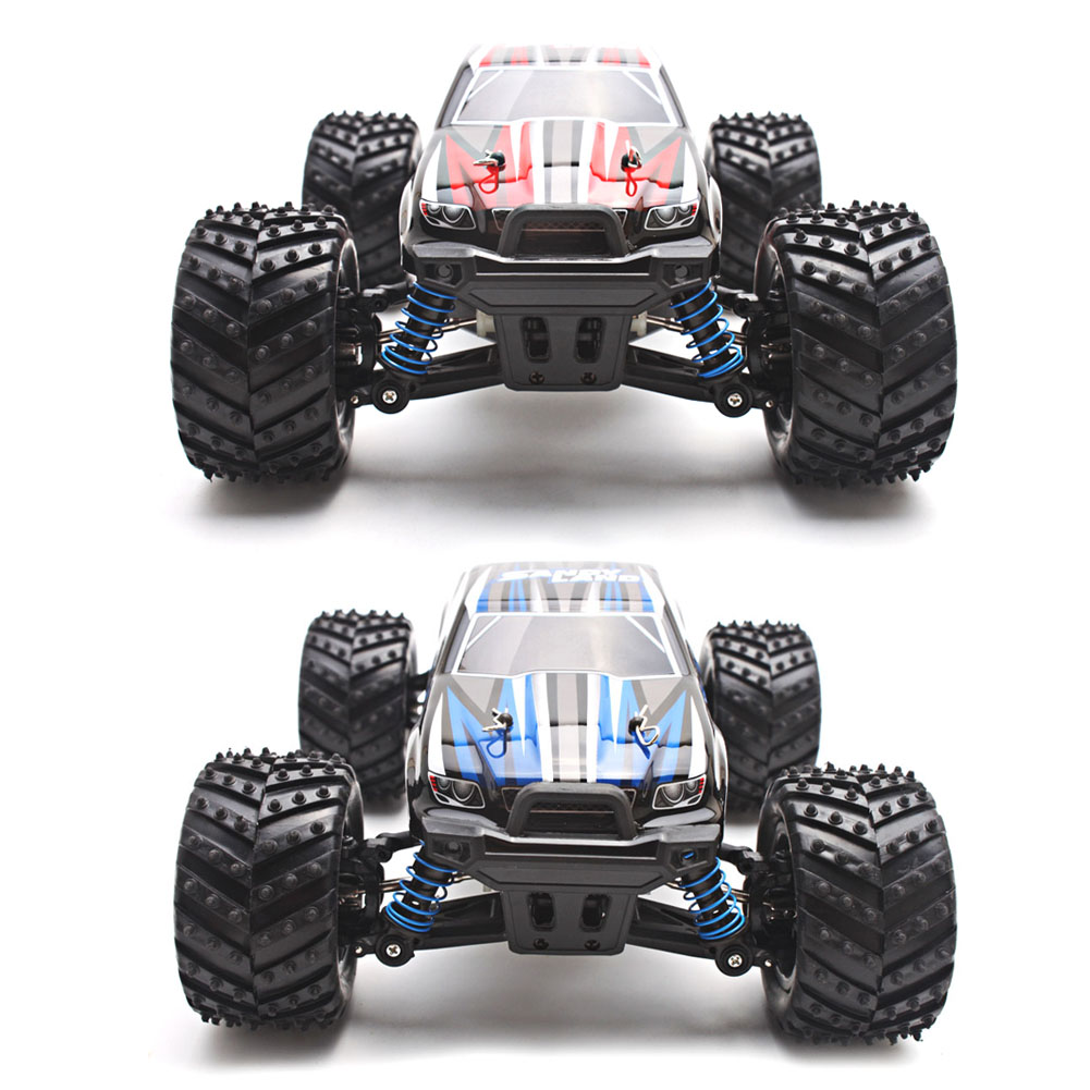 ФОТО Electric RC Car 1/18 4WD 2.4G High Speed Off Road Remote Control Four Wheel Car Model for Kids Children Gift Red, Blue