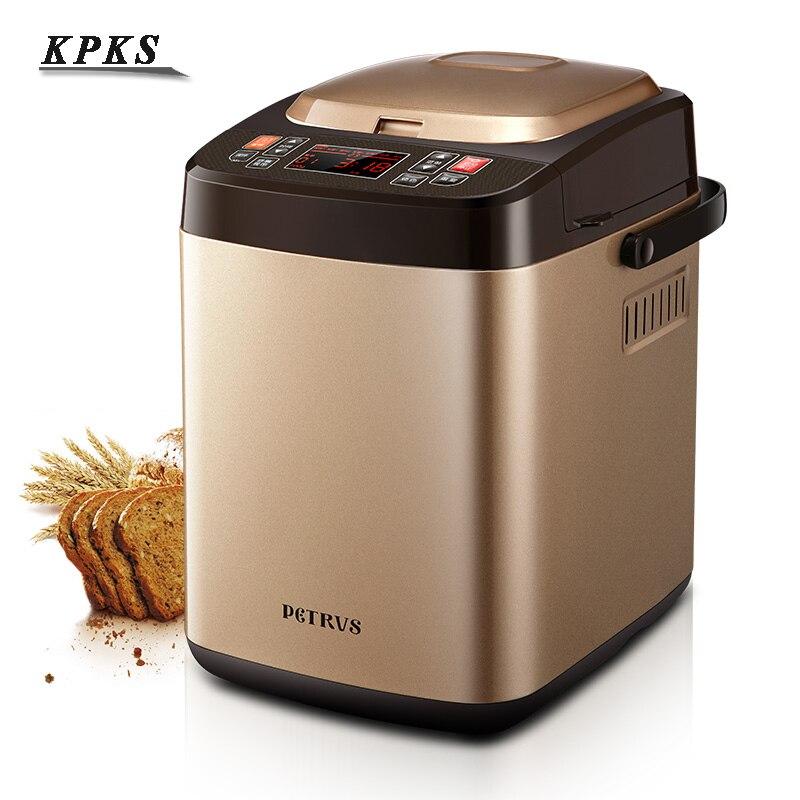 Машина для приготовления хлеба, 500 г/750 г, полностью автоматическая машина для приготовления хлеба с низким уровнем шума, машина для приготов