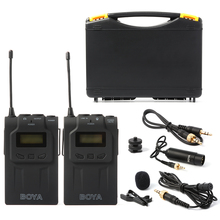 BOYA BY-WM6 Inalámbrico Sistema de Micrófono de Solapa Para DSLR Cámara Videocámara LF731