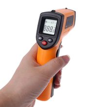 купить Digital Infrared Thermometer LCD Non-contact IR Laser Temperature Point Gun with Backlight -50-380degree по цене 580.97 рублей