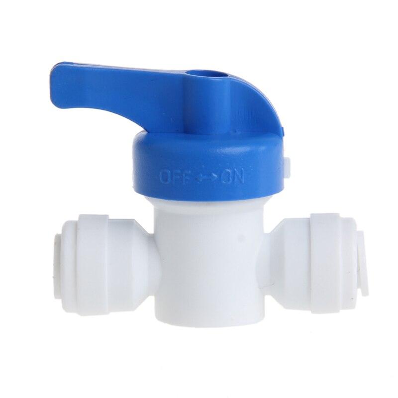 Hart Arbeitend Ball Ventil 6mm 1/4 rohr Od Port Kunststoff Wasser System Schleife Anschluss Heimwerker Ventil