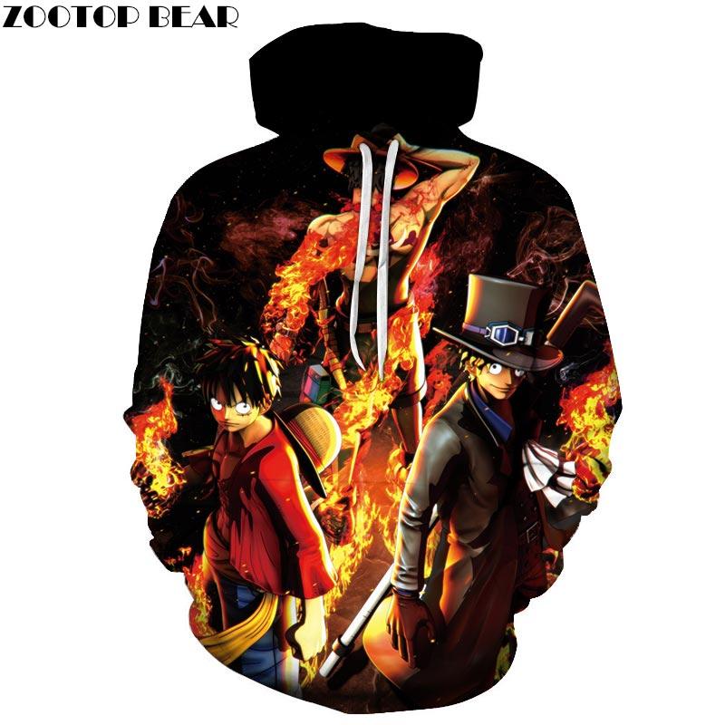 One Piece Warrior 3D Printed Brand Casual Hoody Sweatshirts Men Tracksuit Hoodie Pullover Streetwear Jacket DropShip ZOOTOPBEAR