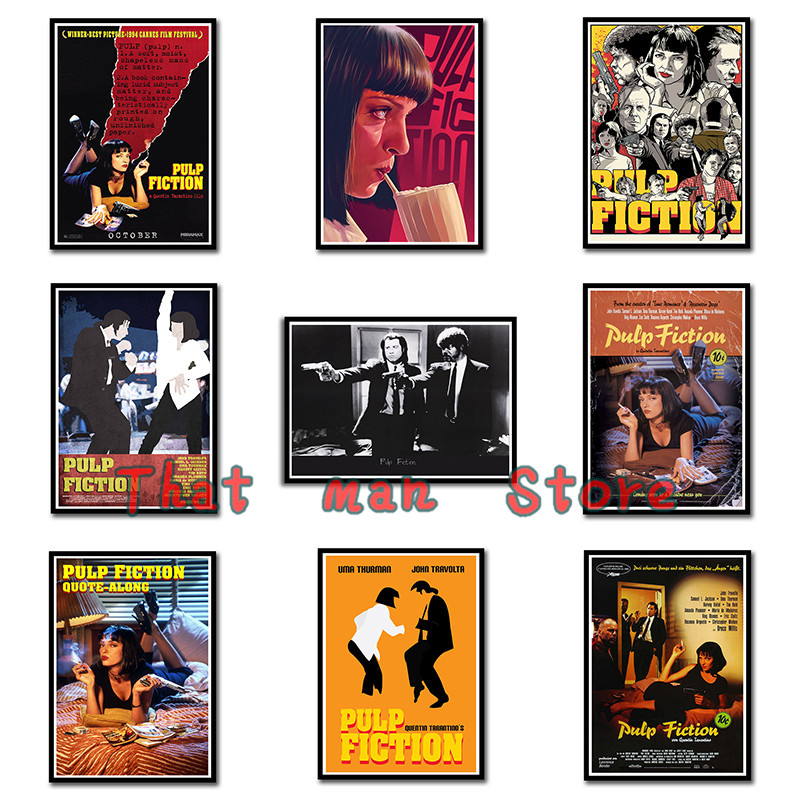 Wall Stickers Quentin Tarantino Movie Posters High Quality Pulp Fiction Home Decoration 42X30cm A3 image