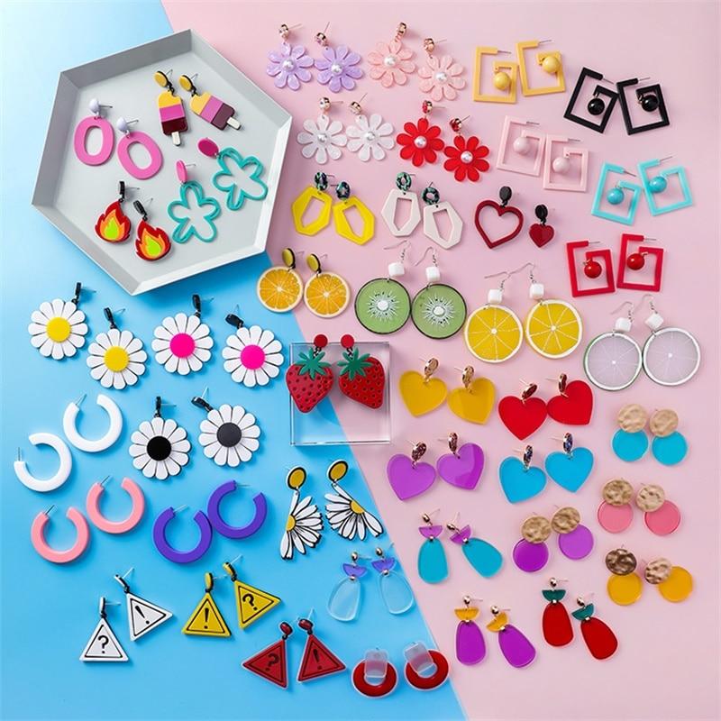 Kawaii Colorful Fruit & Nature Earrings