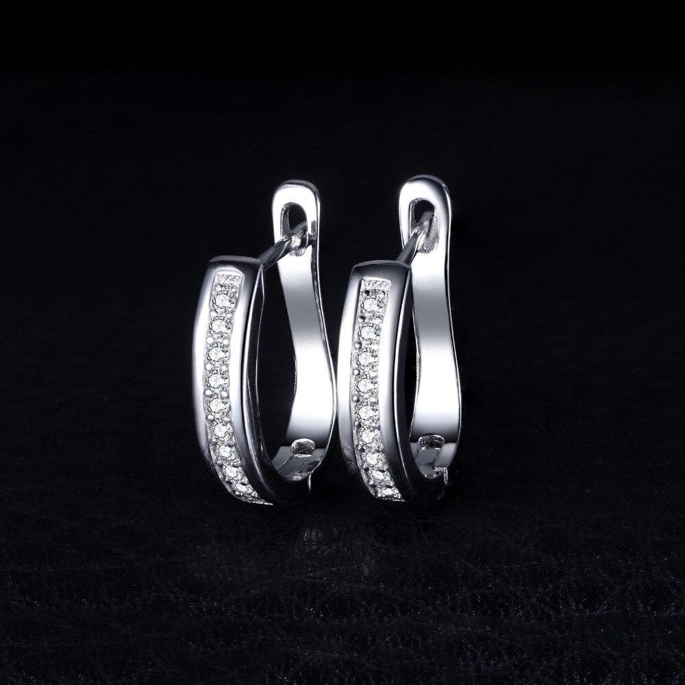 Sterling Silver Earrings Anniversary Channel Eternity Earrings New Fine Jewelry Gift For Girlfriend 2018 Hot 3