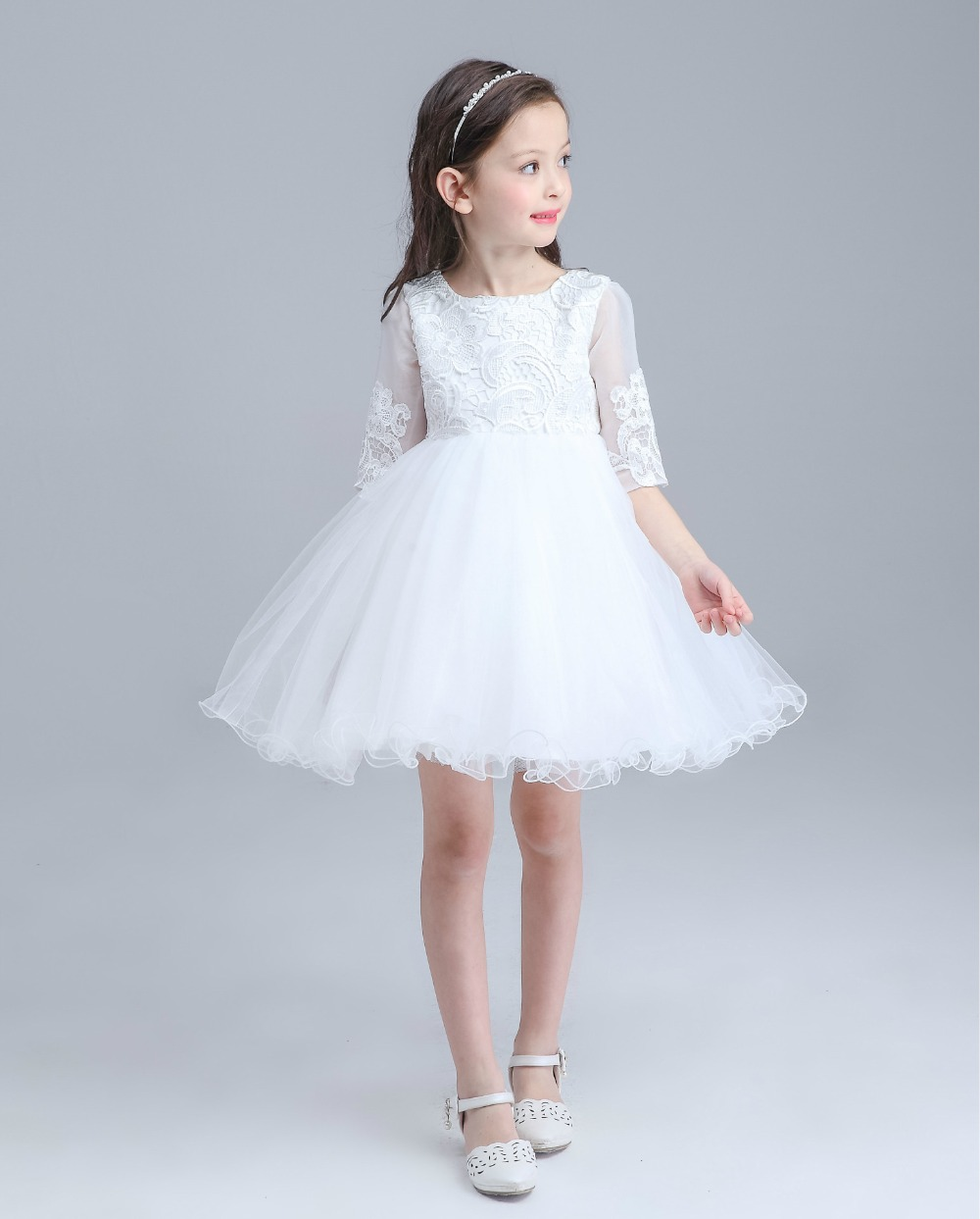 Kids Girls Bridesmaid Wedding Prom Party Ball Gown Formal Flower ...