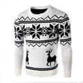 Mens Sweater With Deer Autumn New Style Neck Man Woolen Sweater Christmas Snowflake Deer Print Soft Pullover Fashion Men Sweater