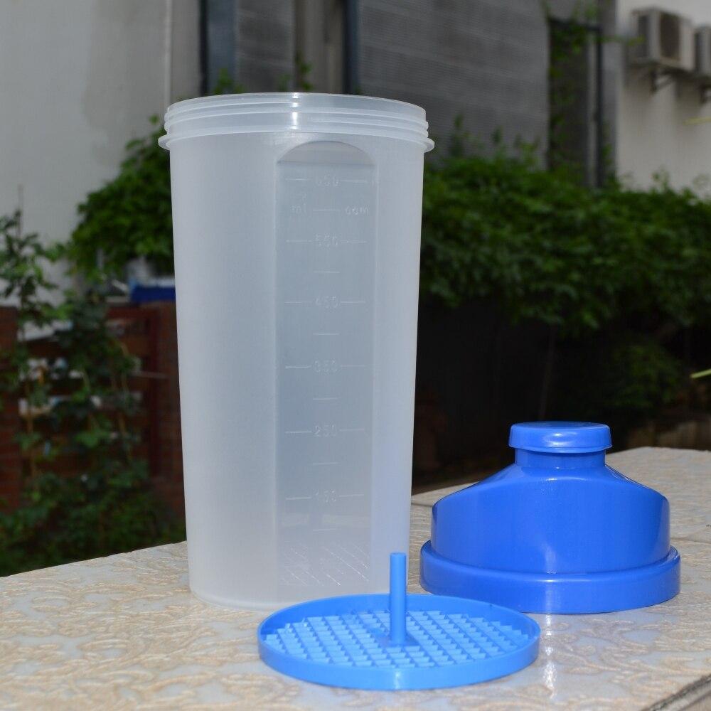 650 мл белка шейкер дикий рот питья чайник Спорт Посуда для напитков BPA бесплатно Пластик мой бутылка для воды с Экран