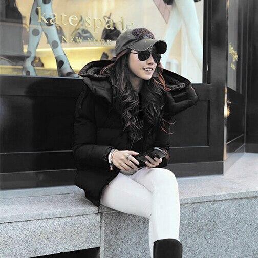 Allentato Cappuccio Donne Inverno Spessa Plus Giacche Breve Per M0057 Black Size Causale New Maglia European Le Giù Parka Con Fashion OFantYw7q