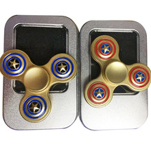 Captain America Shield Hand Spinner Fidget Alloy Metal Toys EDC Autism ADHD Fingertip Gyro Spinning Top For Kids Children Adults