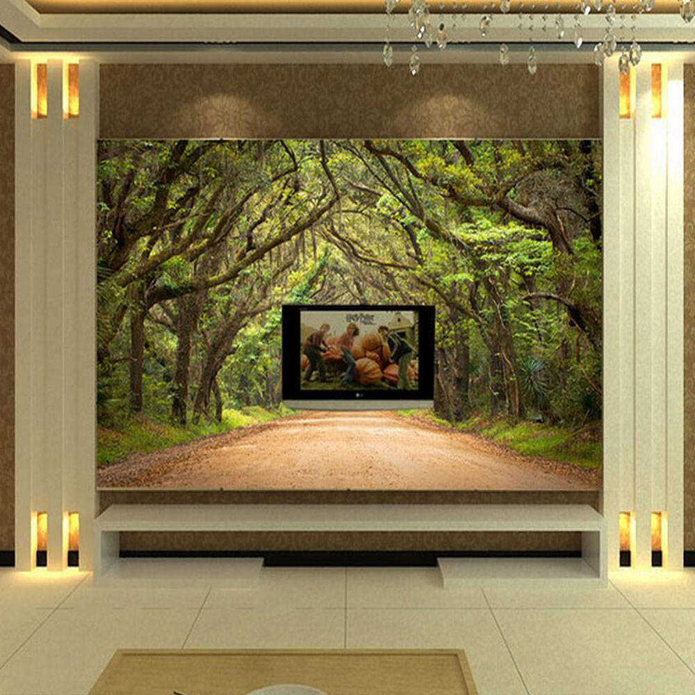 Modern wall murals modern wall coverings - Green Forest Tree Wall Mural Photo Wallpapers Living Room Bedroom Home Wall Art Decor Painting Wallpaper Modern Wall Coverings