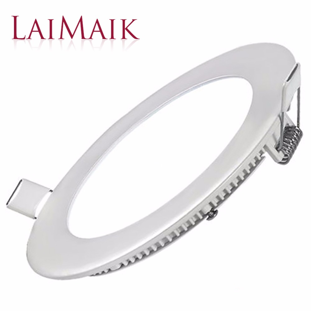 Laimaik תקרת led אור ac85 ~ 265 v led smd2835 לוח אור דק במיוחד 3 w 6 w 9 w 15 w 18 w מודרני led תקרת אור פנל led אור