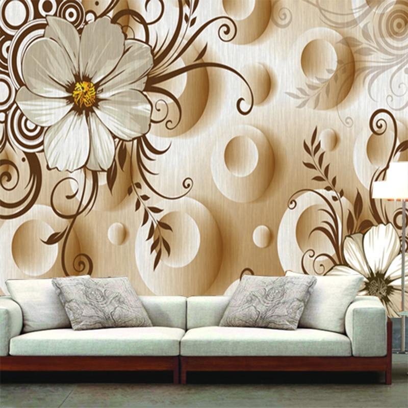 HD Modern Flower Murals Wallpaper 5d Wall Mural For Living