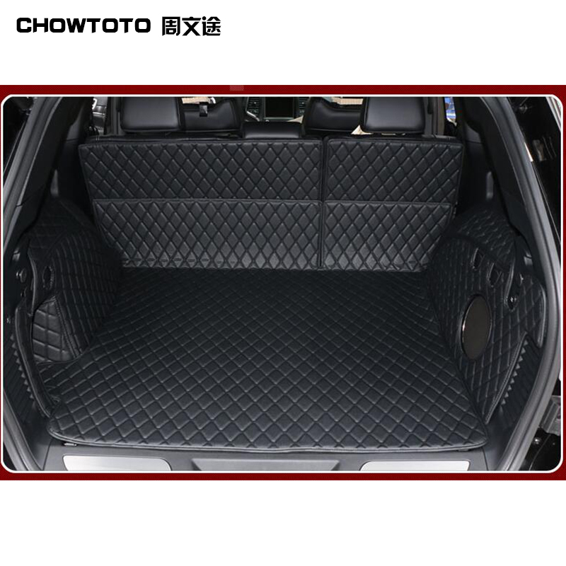 CHOWTOTO Custom Special Trunk Mats For Jeep Grand Cherokee Durable Waterproof Boot Carpets For Lagguge Mat