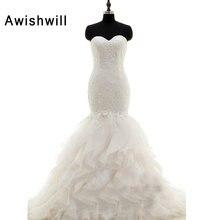 Awishwill Sweetheart Neck Lace-up Back Lace Wedding Dresses