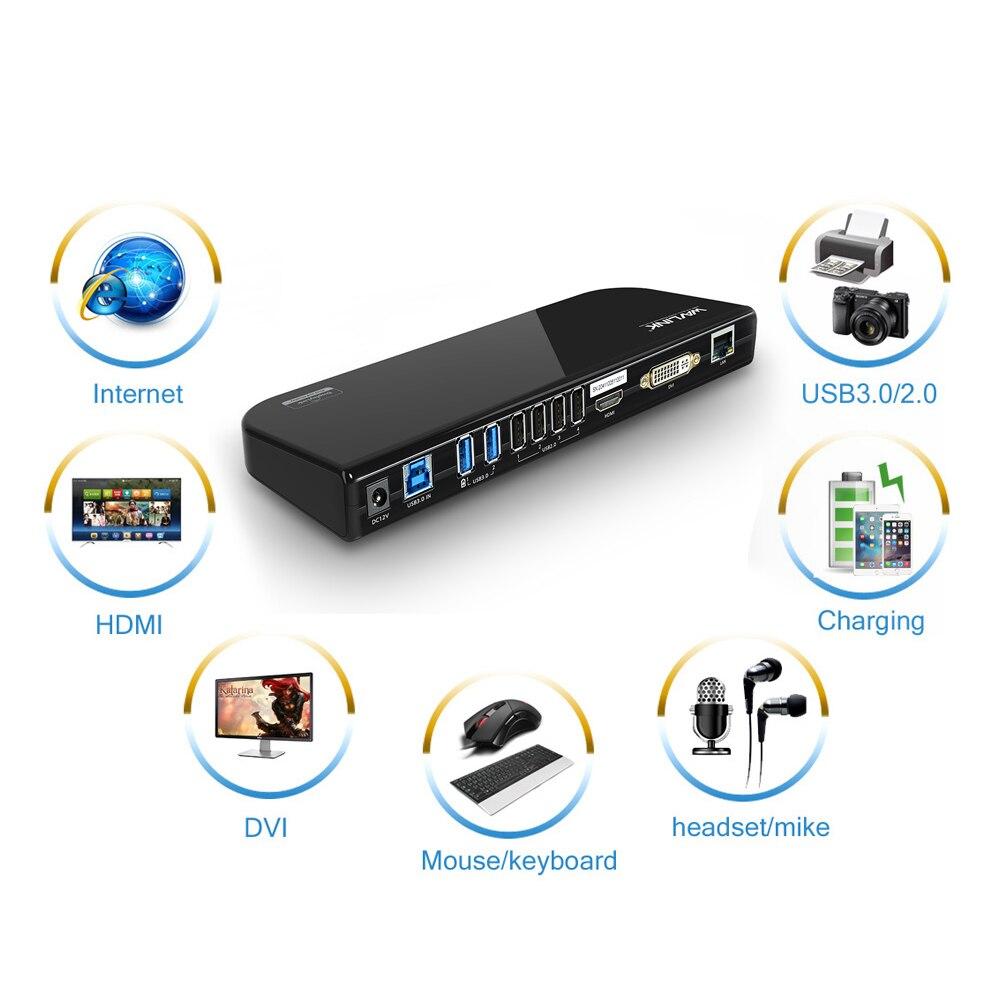 WAVLINK UNIVERSAL DOCKING STATION SUPER SPEED USB3.0 HUB HD 1080 DUAL VIDEO  SUPPORT DVI/HDMI/VGA TO 2048X1152 GIGABIT ETHERNETWAVLINK UNIVERSAL DOCKING STATION SUPER SPEED USB3.0 HUB HD 1080 DUAL VIDEO  SUPPORT DVI/HDMI/VGA TO 2048X1152 GIGABIT ETHERNET