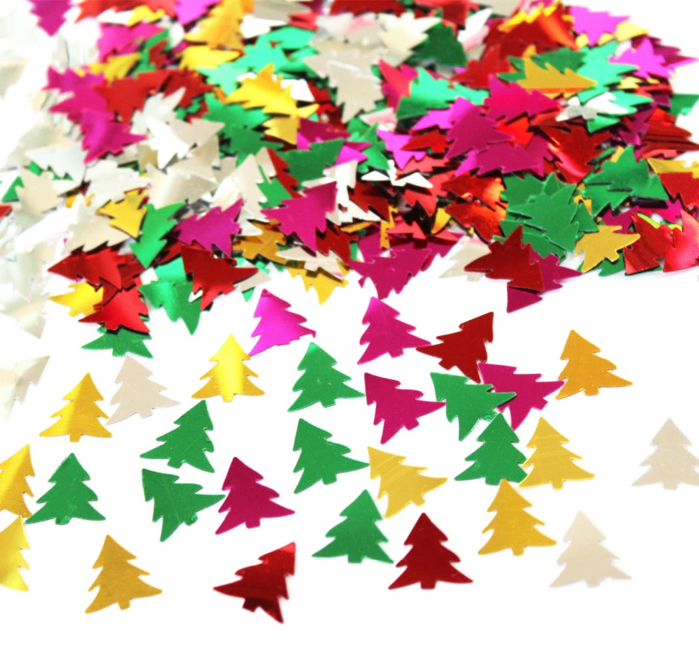 Christmas Table Confetti Green Gold