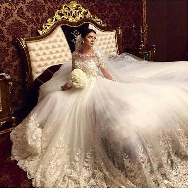 Vestido novia elegante encaje