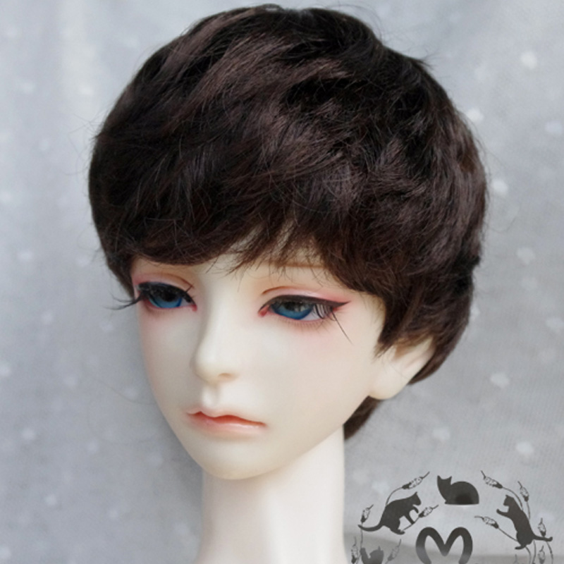 1PCS Doll Accessories Short Brown Wig For Dolls BJD 1/4 uncle 1 3 1 4 1 6 doll accessories for bjd sd bjd eyelashes for doll 1 pair tx 03