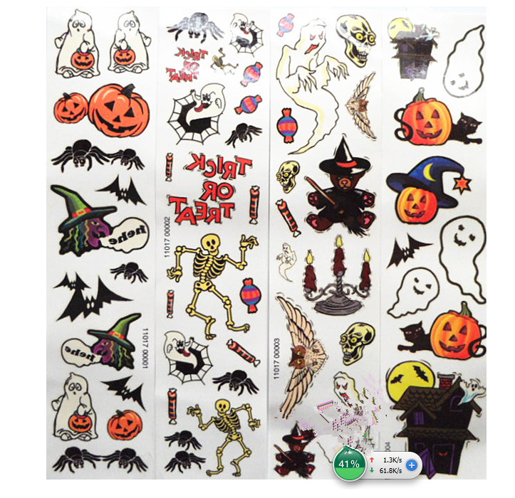 Collection halloween temporary tattoos for kids pictures for Halloween temporary tattoos