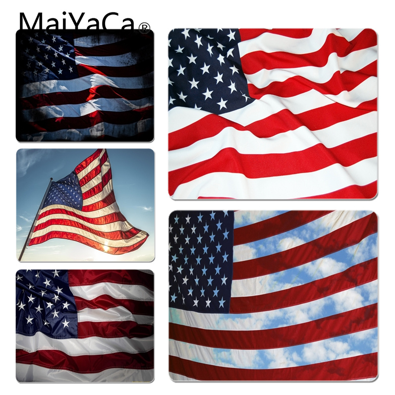 MaiYaCa The American flag Customized laptop Gaming mouse pad Size for 18x22x0.2cm Gaming Mousepads