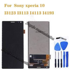 Image 1 - Оригинальный дисплей для Sony Xperia 10 I3123 I3113 I4113 I4193 ЖК дисплей с сенсорным экраном дигитайзер для Sony Xperia 10 ЖК дисплей запасные части