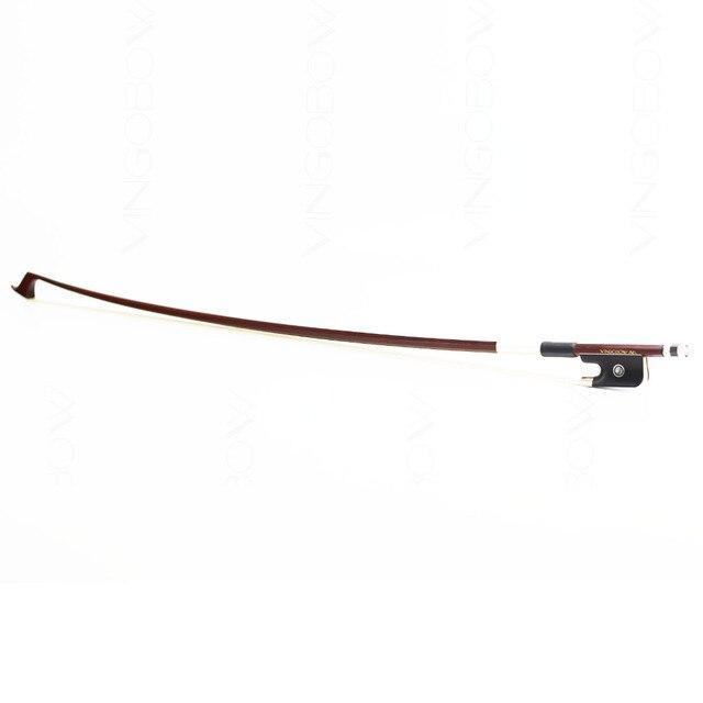Livraison gratuite 1/2 taille 310C brasilwood violoncelle arc bonne qualité ébène grenouille blanc crin droit violoncelle pièces et accessoires